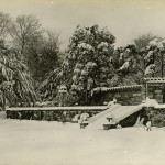 Summerfields House in snow