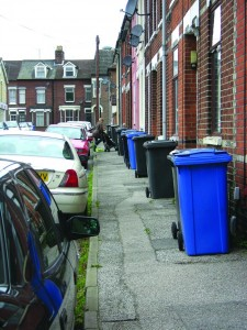 Wheelie bins used in Ipswich