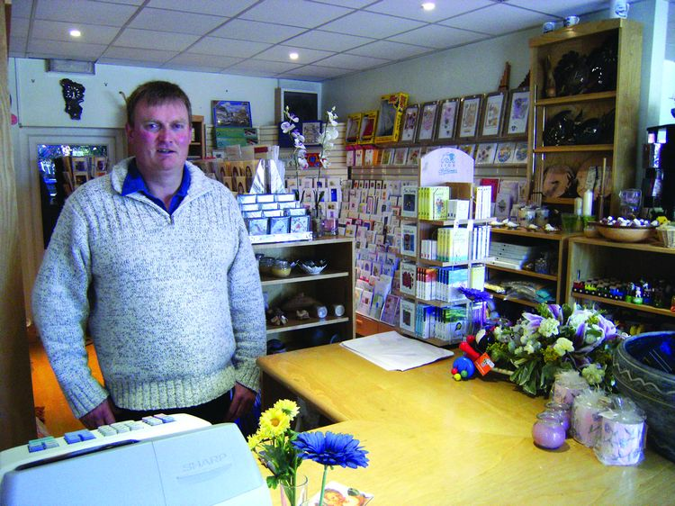 Eddie Vicary  pictured in his new gift shop