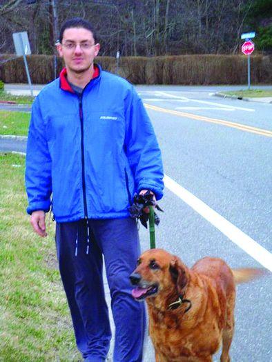 Mauricio & dog, Mason