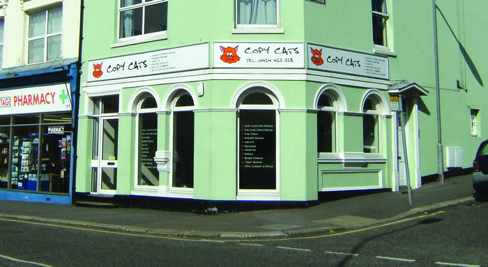 Newly opened print shop Copy Cats in Bohemia Road