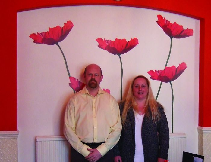 Tony & Lorraine at Sea Spirit Hotel in Tower Road