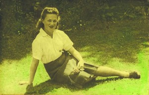 Treasured family picture of Iris, aged 16, in 1945