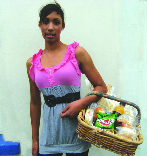 Jamila  with basket, in Bohemia