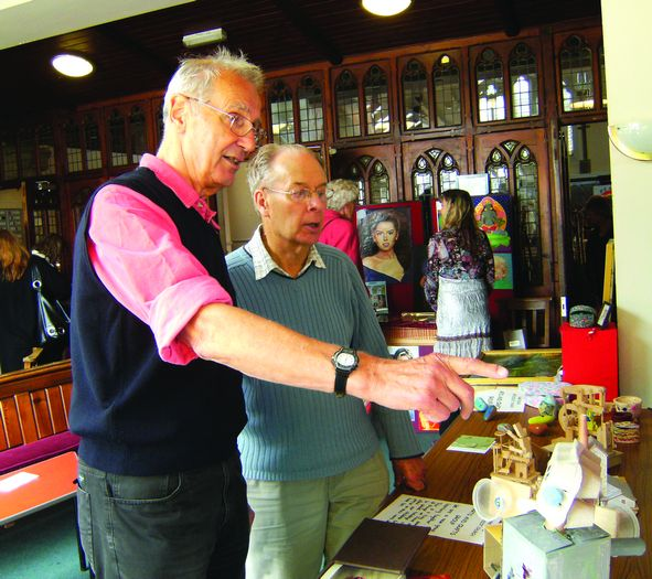 Exhibition organiser Mike Ward (left), with Charles Levett