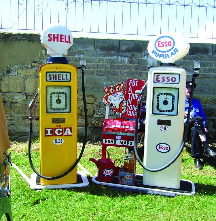 Esso petrol popular at 4/11d a gallon  about 25p!