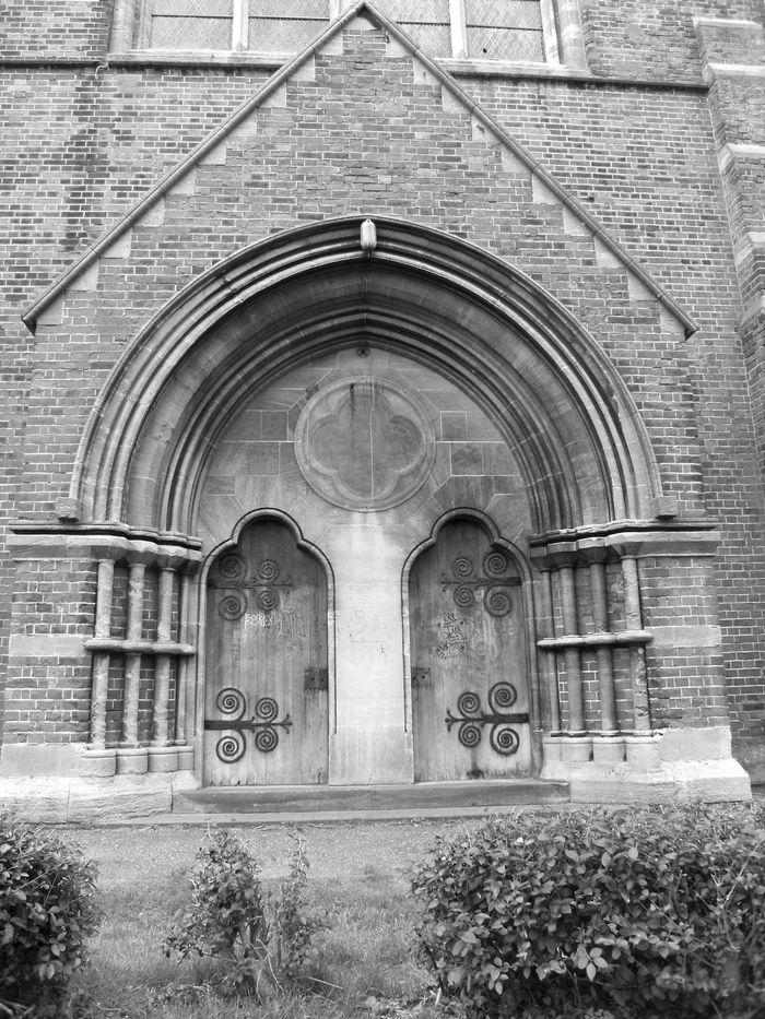 The door hinges of St Peters Church