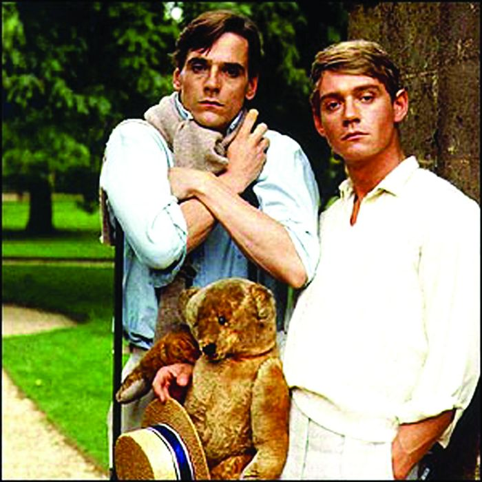 Anthony Andrews and Jeremy Irons, who played Sebastian Flyte and Charles Ryder in Granada TVs 4.5m lavish production of Brideshead Revisited.
