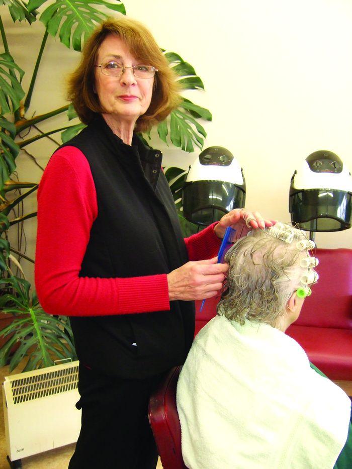 Waves hairdresser Val Easton - shop closing in April