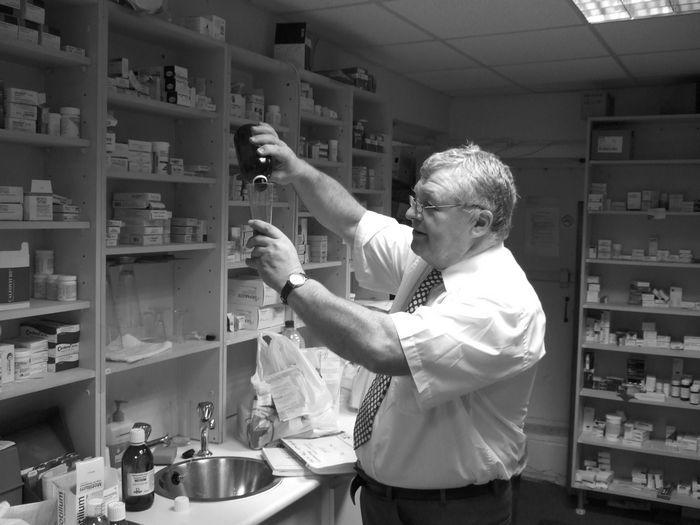 Stan Steadman, pharmacist at Blooms