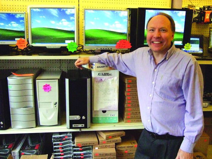 Kim Callow, owner of KC Computers, relies on keen prices and high turnover.