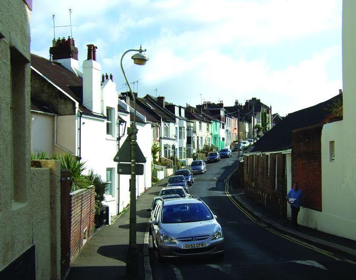 Lower end of Cornfield Terrace