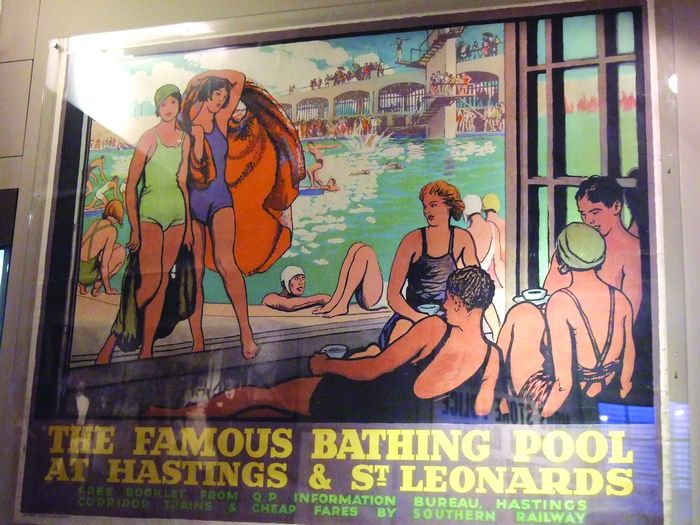 Museum bathing pool poster