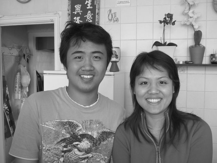 Nice owners brother and sister Jin Hui She and Yo Yo She.