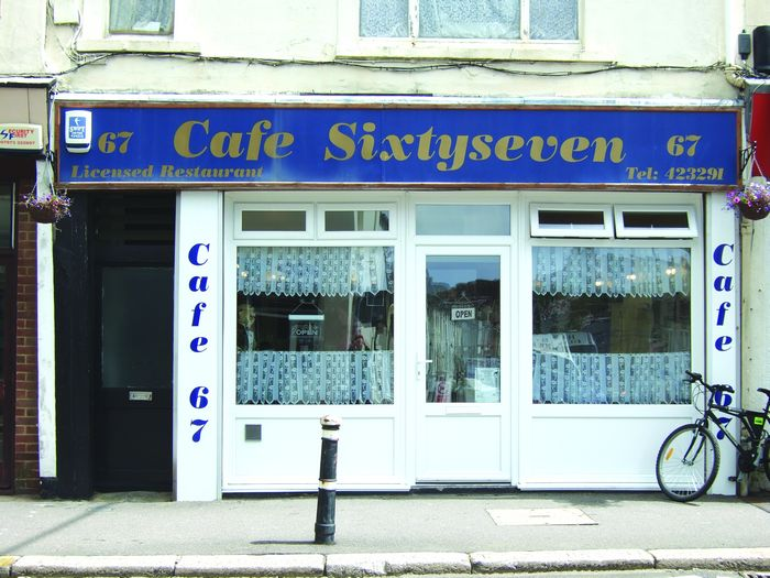 Cafe 67 shopfront