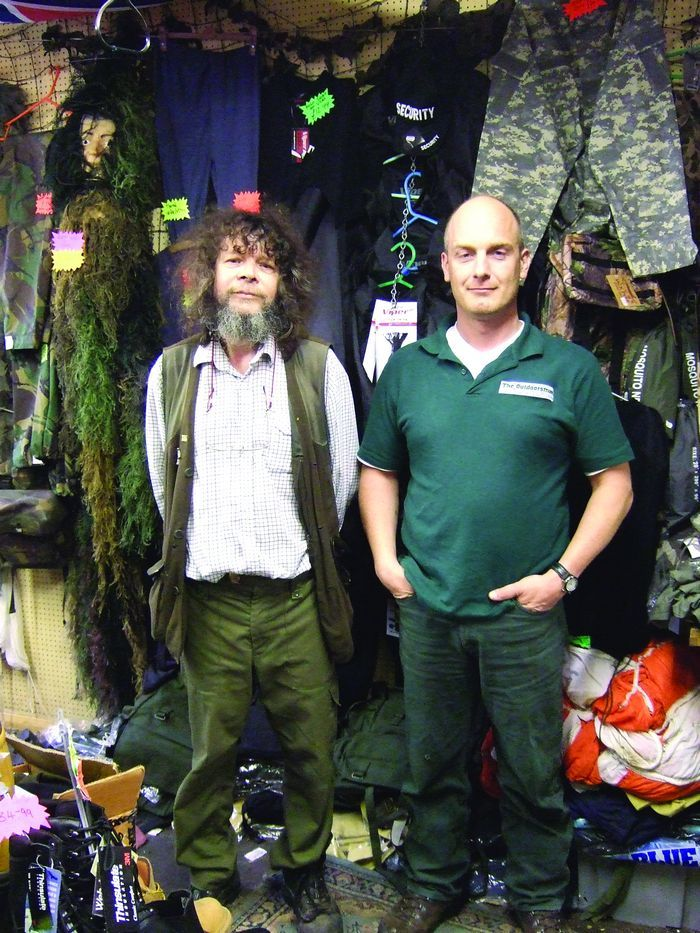 Outdoorsman Alan with co-director Myles