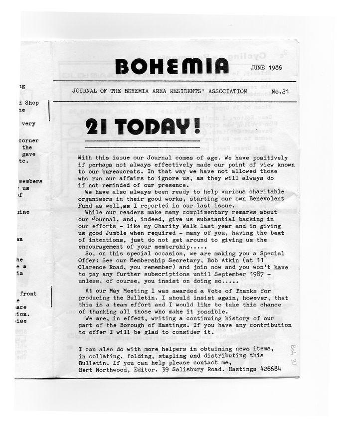Bohemia magazine, June 1986