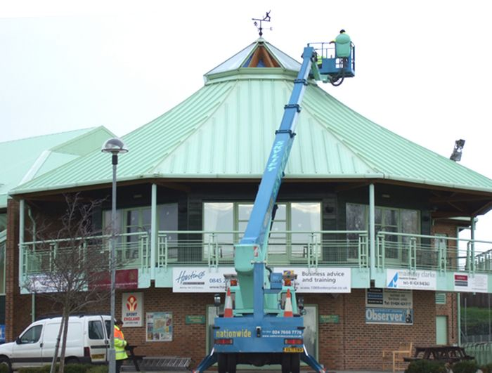 Cherry-picker at Horntye Park on Tuesday of this week.