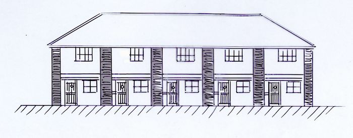 Salisbury Yard - impression of proposed houses.
