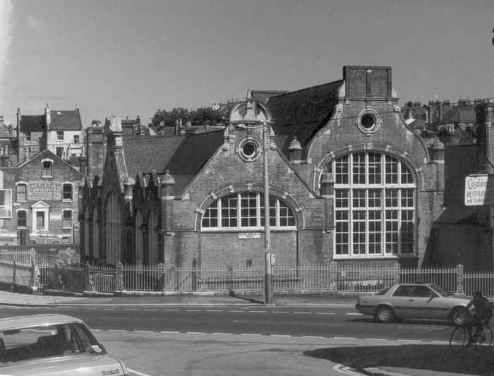 Tower Road School - viewed from Tower Road West. Photo 1985-86.