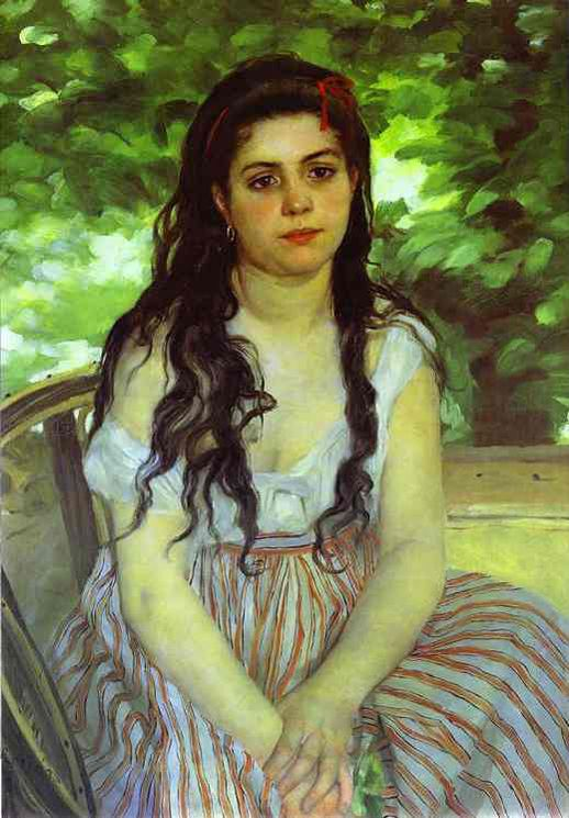 Lise the Bohemian by Renoir.
