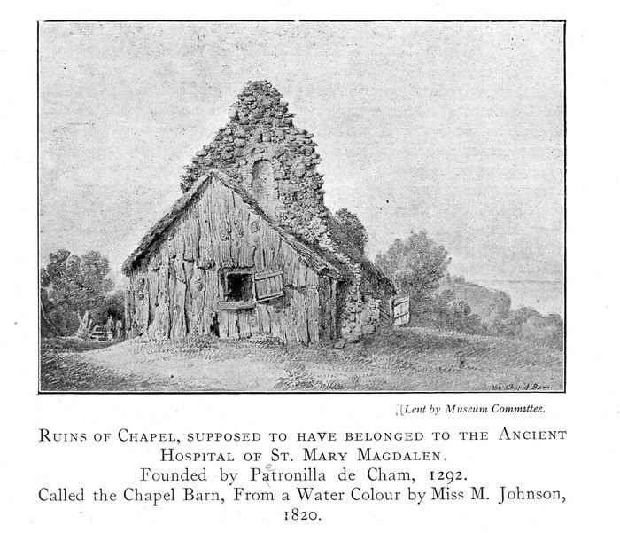 Ruins of chapel.