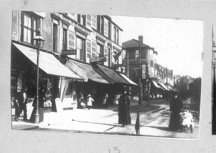 Bohemia Road circa 1915. Centre of picture is draper, W.B. Taylor. Photo courtesy of Colin Green, Empress Art.