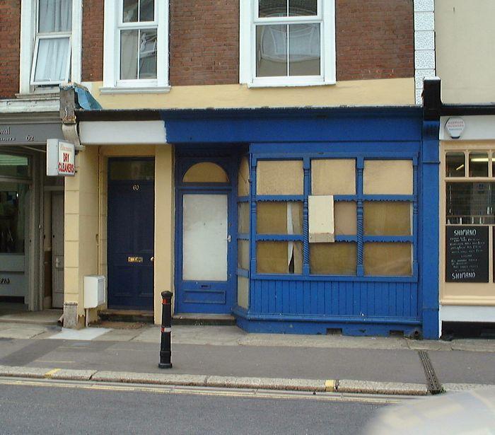 60, Bohemia Road - how the shopfront  looked yesterday.