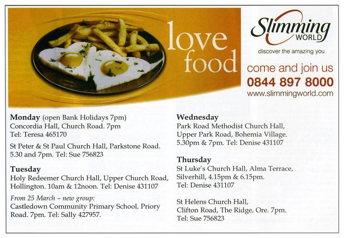 Slimming world advert the bohemia village voice Slimming world website please