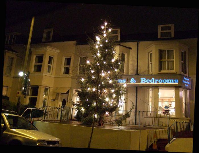 Gordon Busbridge, furnishers of London Road, provide Christmas cheer.