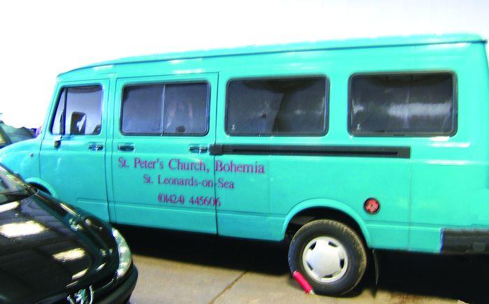 The beloved minibus  stolen