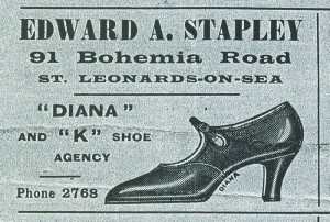 Stapley Shoe Shop advertisement