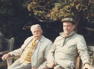 Arthur Booth with friend Ron on a park bench in 1984