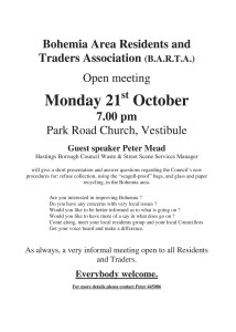 BARTA Meeting about rubbish collection