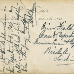 7. Reverse of 6. Franked 25 Feb 1909