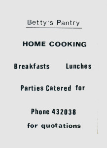 Betty's Pantry (advert June 1987)