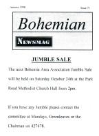 Bohemian Newsmag 71 (Autumn 1998)