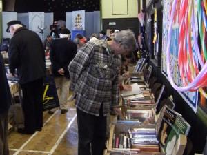 Brian Hughes browsing at Bohemia Book Fayre 2011