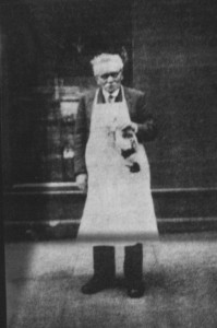 George Bristow – outside 15 Silchester Road in 1945