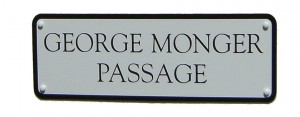 George Monger sign