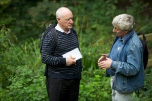 John Humphries (left) and  BWGA chairman Bob Hart
