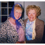 "June Hudson & Dora Bryan on set of ""Gone to the Dogs"""