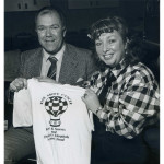 June & Ron Hudson and T-shirt