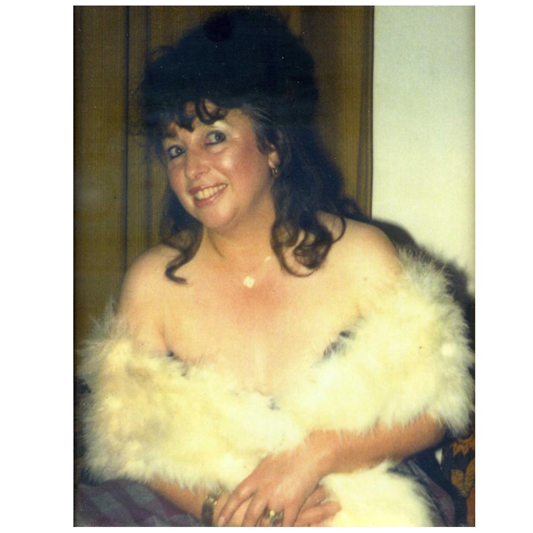 June Hudson in white wrap
