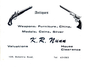 K R Nunn (advert June 1987)