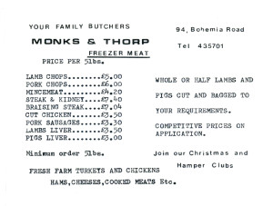 Monks & Thorp (advert June 1987)