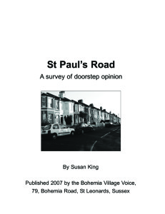 St Paul's Road - a survey of doorstep opinion (2007)