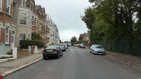 Lots of parking space in St Peter's Road - picture taken at mid-day 26 Sept 2014.