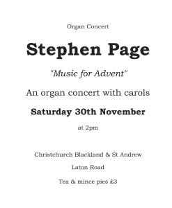 Stephen Page Concert 30 Nov 2013