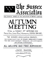 Sussex Association meeting Sept 2013